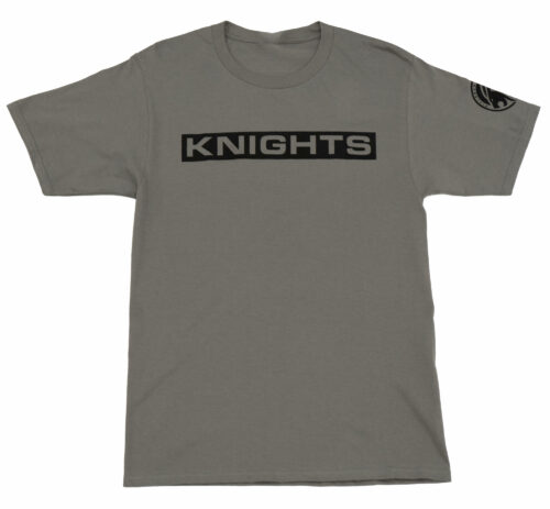 Block Letter T-Shirt - Grey, Front