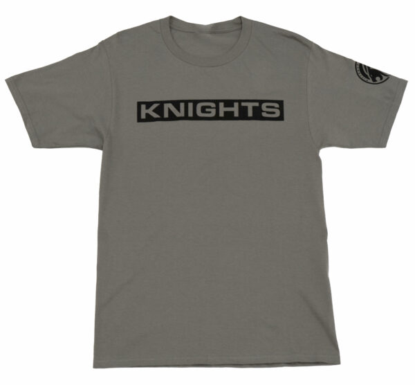 Block Letter T-Shirt - Grey, Front