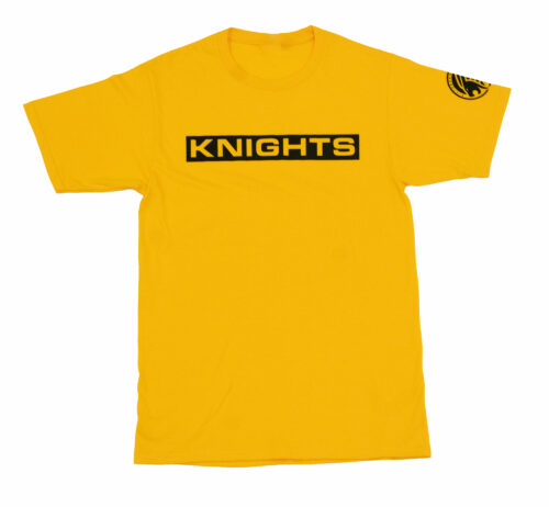 Block Letter T-Shirt - Gold, Front