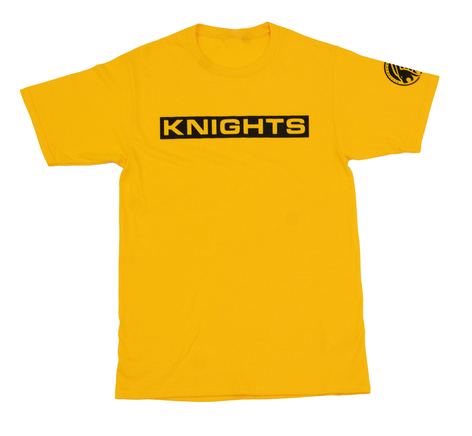 Block Letter T-Shirt - Gold, Front