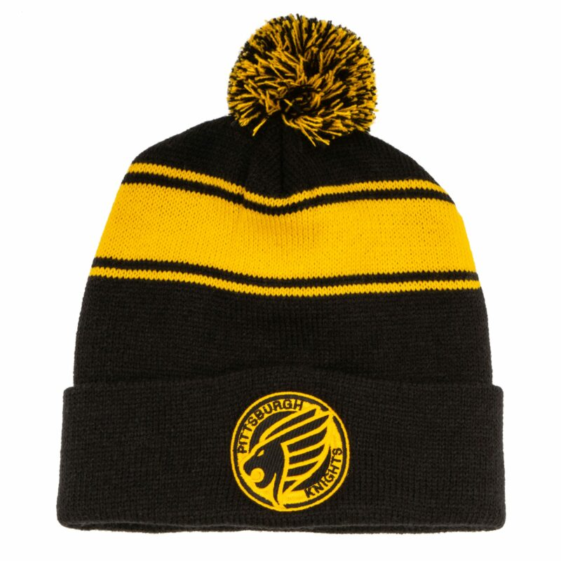 Pittsburgh Knights Emblem Knit Beanie Front
