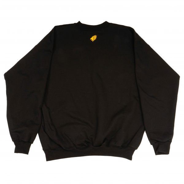 Pittsburgh Knights Embroidered Crewneck Black Back