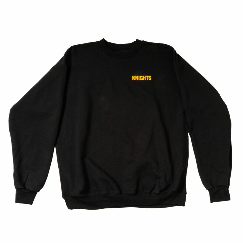 Pittsburgh Knights Embroidered Crewneck Black Front