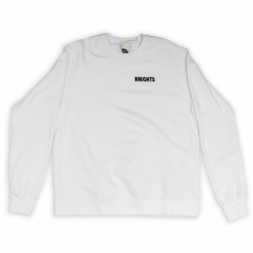 Pittsburgh Knights Embroidered Crewneck White Front