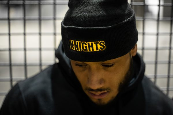Pittsburgh Knights Logotype Beanie Front Model