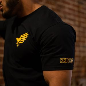 Pittsburgh Knights Small Logo Tshirt Side Model