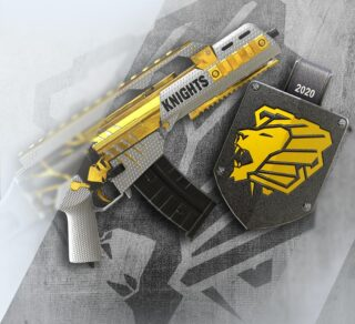 The category is G36C, and we've got the gold 🎖️   our R6 Esports Share skin is available no for you to buy! Equip it, and flex 💪   Rep the black and gold. Support #PKR6 🦁